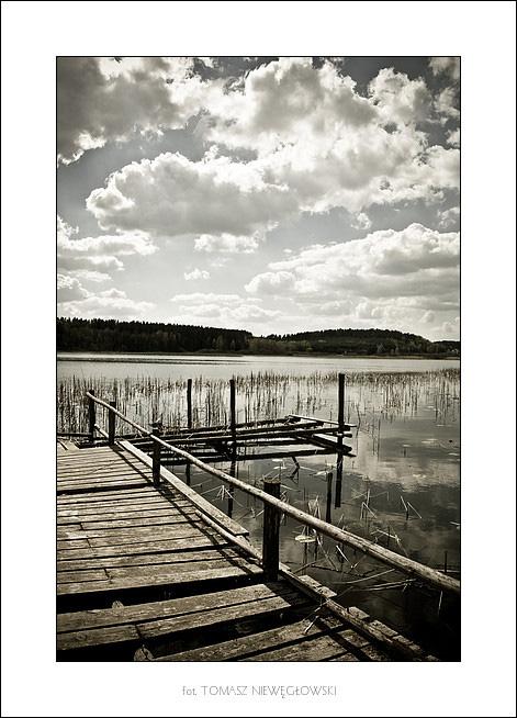 Pejzaż 4 - stary pomost nad jeziorem