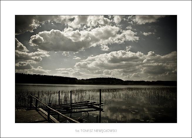 Pejzaż 5 - stary pomost nad jeziorem