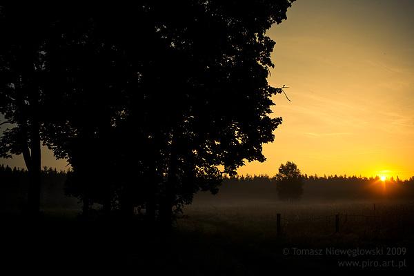 Wschód słońca na Warmii