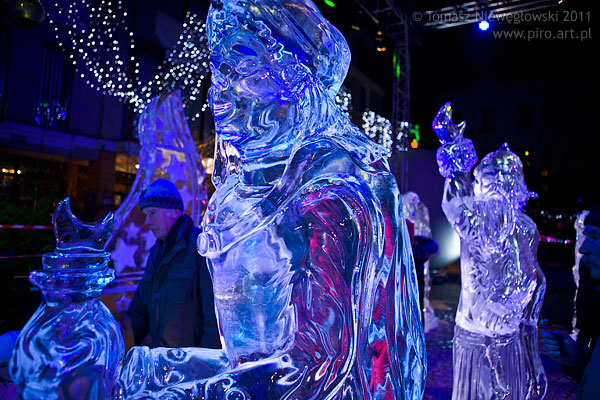 Rzeźby lodowe Olsztyn 2011