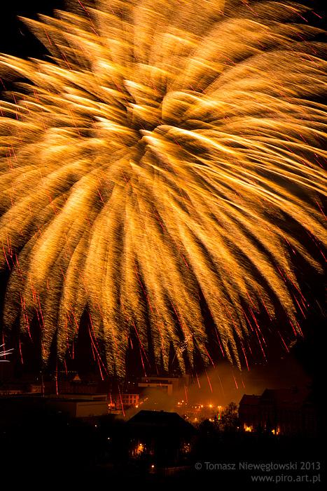 Olsztyn - noworoczne fajerwerki