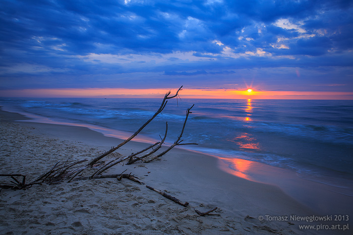 Zachód słońca nad morzem - Krynica Morska